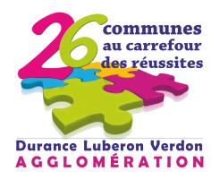 Logotype de la DLVA, 26 communes au carrefour de la réussite